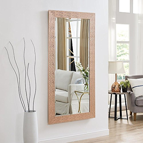 Naomi Home Mosaic Style Full Length Floor Mirror Rose Gold