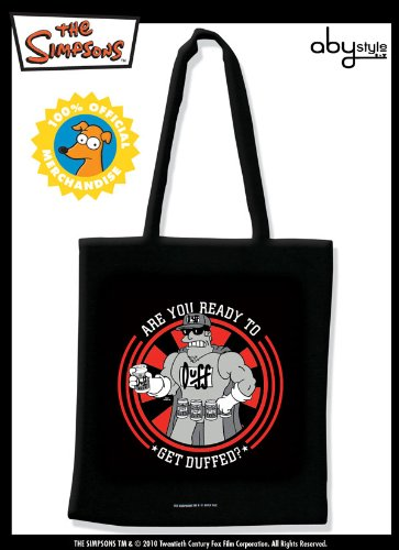 ABYstyle - ABYBAG006 - Puériculture - Simpsons - Tissu Bag - Get Duffed X5