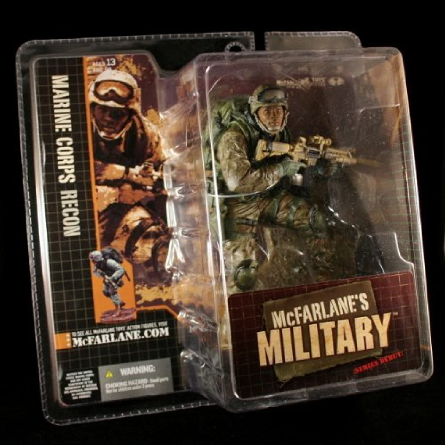 MARINE CORPS RECON  AFRICAN AMERICAN VARIATION  McFarlane's Military Series 1 Action Figure & Display Base by McFarlanes Military