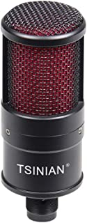 FH-02 Condenser Cardioid Condenser Microphone with Shock Mount for Karaoke & Live Stream Compatible with Desktop Computers