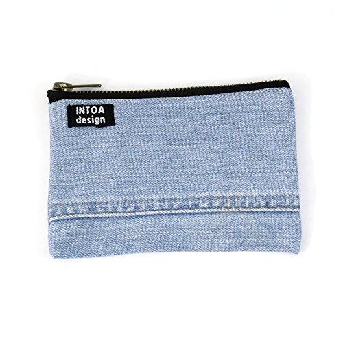 INTOA design Handmade Small Denim Pouch Recycled Light Complete Free Shipping of Cash special price Jeans
