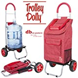 dbest products Trolley Dolly, Black Shopping Comida, Rojo (Red Pin Dot), 1, 1