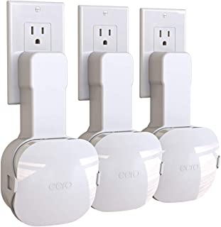 Outlet Wall Mount for eero Mesh WiFi System, for Both 15W and 24W Plugs, Save Space Easy to Install Wall Mount Holder for ...