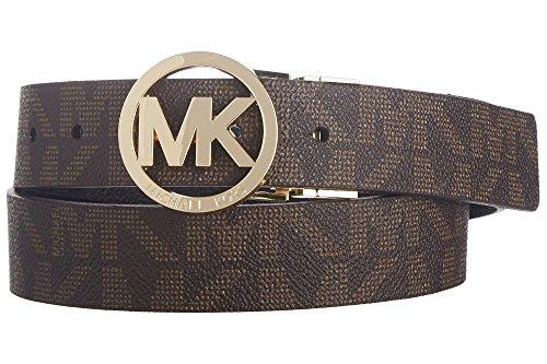 Michael Kors Mk Signature Monogram Belt and Buckle Reversible