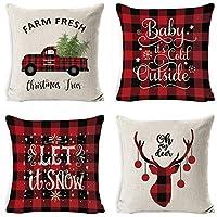 La nostra fodera per cuscino natalizio può aiutarti a cambiare rapidamente le decorazioni natalizie. Il design unico dell'elemento natalizio si abbina molto bene all'arredamento natalizio. Ottimo regalo per le vacanze: le decorazioni natalizie in per...