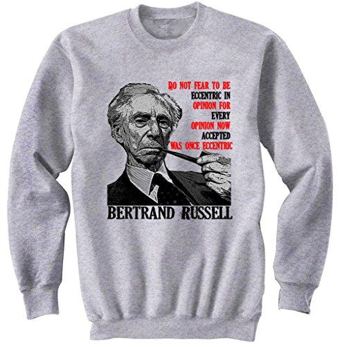 teesquare1st Men's Russell Bertrand 1 Grey Sweatshirt Size XXLarge
