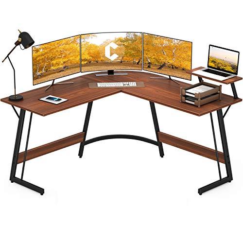 Cubiker Modern L-Shaped Desk Computer Corner Desk, PC Laptop Writing Study Desk for Home Office Wood...