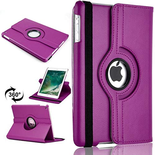PU Leather Rotate Stand Case Cover For Apple iPad 10.2 2019/2020 8th/7th Gen A2428 A2429 (Purple)