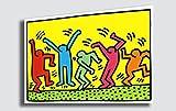 Quadro KEITH HARING Pop Art 2 Pop-Art - RIPRODUZIONE STAMPA SU TELA Quadri Moderni Moderno Arte Astratto Cucina Soggiorno Camera da letto printerland.it (50x70 cm)