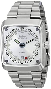 Zodiac Heritage Men's ZO6601 Astrographic Analog Display Automatic Silver Watch Watch