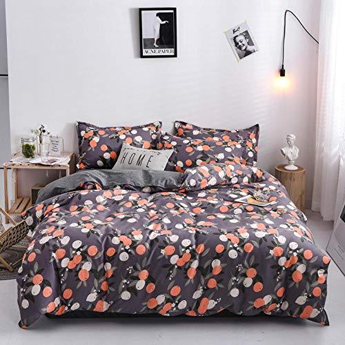 BTBDWOSK Super King Duvet Cover 3D Print Cartoon Fruit Orange Duvet Cover Quilt Bedding Set With 2 Pillowcase,Ultra Soft Microfiber Bedding - Easy Care - With Zipper Closure 260X220 Cm