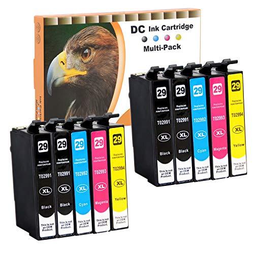 D&C 10er Set Druckerpatronen Kompatibel für Epson 29XL T2991 T2992 T2993 T2994 für Epson Expression Home XP-235 245 247 255 257 330 330 332 335 340 342 345 352 355 430 430 432 435 440 442 445 452 455