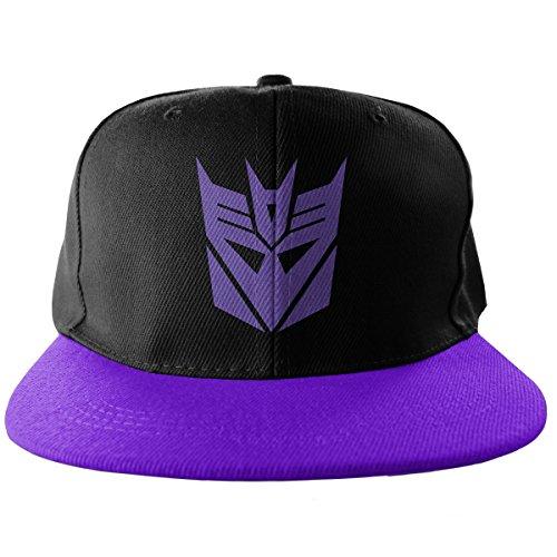 Decepticon Embroidered Adjustable Size Official Snapback Cap (Black/Purple)