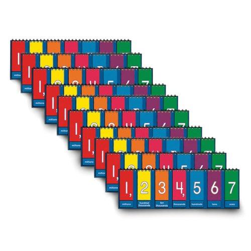 Nasco TB25013T - Juego de fichas de mesa para estudiantes (3-1/2 x 11-3/4 pulgadas, grados 3 a 6 (juego de 10): Amazon.es: Amazon.es