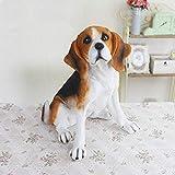 HTRA Escultura de la Estatua Simulación Decoración para Perros Bigger Beagle Modelo Living Room TV Cabinet