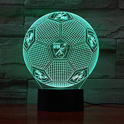 3D Illusion Nachtlicht Bluetooth Smart Control 7 & 16M Farbe Mobile App Led Vision Engl Fußball Team Schreibtisch Fußball Ping bunt Kreatives Geschenk