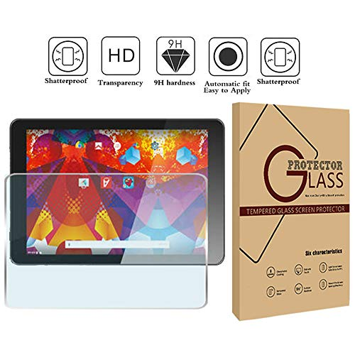 FINDING CASE Argos Alba 10 Inch Tablet - Premium Tempered Glass Screen Protector Film Cover 9H Hardness Anti-Scratch Bubble-Free Ultra Clear