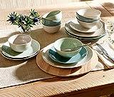 Sango Siterra Artist's Blend 16-Piece Stoneware Dinnerware Set with Round Plates and Bowls,...
