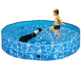 SCIROKKO Foldable Dog Swimming Pool Collapsible Pet Pools Washing or Playing Bathing Tubs Outdoor for Small Medium Large Dogs Cats & Children Kids, Strong Durable for Use in Summer