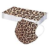 20piezas Ma_scarilla con estampado de leopardo para adulto, Bajo techo, en exteriores, 3 capas Necesidades diarias - NONGMIN1125