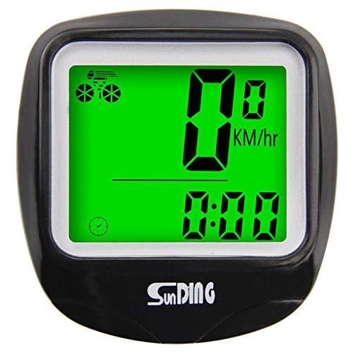 SUNDING Fahrradcomputer Tachometer Kabelgebundenes wasserdichtes Fahrrad Kilometerzähler Fahrradcomputer Multifunktions-LCD-Display mit Hintergrundbeleuchtung