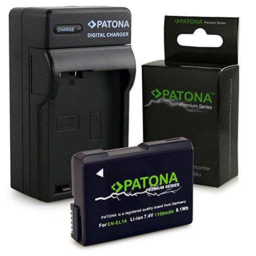 Oplader + accu EN-EL14 / EN-EL14a voor Nikon D3100 | D3200 | D5100 | D5200 | D5300 – Nikon Coolpix P7000 | P7100 | P7700 | P7800 – [Li-Ion; 1050 mAh, 7,4 V]