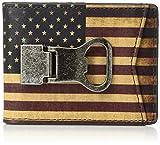Nocona Belt Co. Unisex-Adult's Nocona Vintage Flag Bottle Clip Wallet, multi/color
