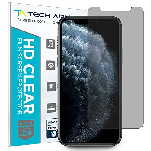 Tech Armor 4Way 360 Degree Privacy Film Screen Protector for New Apple iPhone 11 Pro/iPhone X/iPhone Xs [1-Pack] Case-Friendly, Scratch Resistant, 3D Touch Accurate Designed for 2019 iPhone 11 Pro