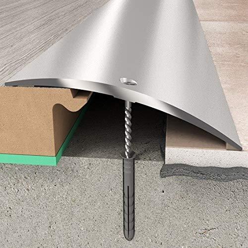 Übergangsprofil 70 x 6,55 mm   Aluminiumprofil Silber   Übergangsleiste Bodenprofil Bodenleiste Aluprofil Silber- 1860 mm