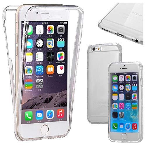 ebestStar - Funda Compatible con iPhone 6 Plus 6S Plus Carcasa Gel Silicona Integral Ultra Claro, Protección Completa Case Cover, Transparente [Aparato: 158.1 x 77.8 x 7.1mm, 5.5'']