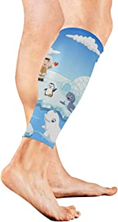 Lovely Arctic Wildlife Cartoon Calf Compression Sleeve Leg Compression Socks For Shin Splint Calf Pain Relief Men Women And Runners Improves Circulation Recovery