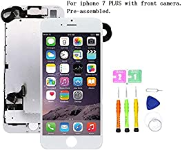 Screen Replacement Compatible with iPhone 7 Plus Full Assembly - LCD 3D Touch Display Digitizer with Ear Speaker, Sensors and Front Camera, Fit Compatible with iPhone 7 Plus (White)