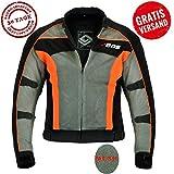 BOSmoto Herren Motorradjacke mit Protektoren und Reflektoren, Textil Motorrad Jacke aus 3D Mesh,...