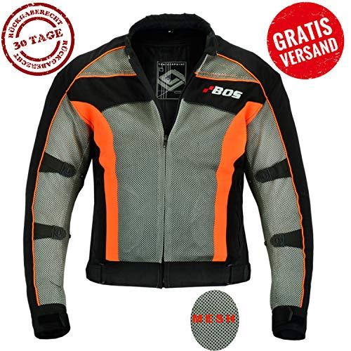 Herren Motorradjacke mit Protektoren und Reflektoren, Textil Motorrad Jacke aus 3D Mesh, Wasserdicht herausnehmbaren Membran (2XL)