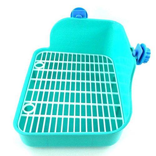 Demarkt Haustier Kleine Ratte WC Kaninchentoilette Hamster Toiletten Nagertoilette Ecktoilette