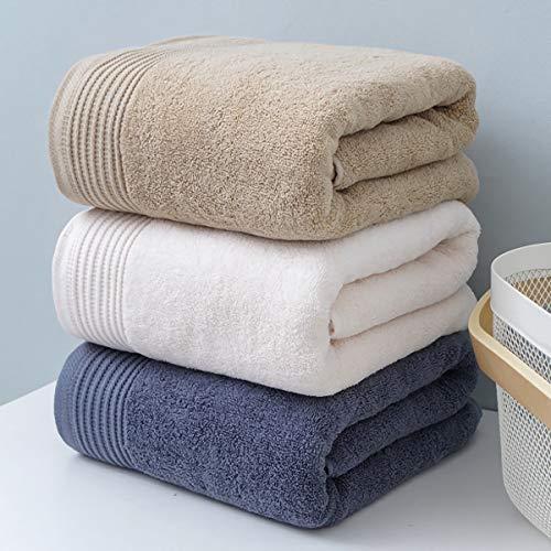 Juego de 3 toallas de baño de gran tamaño, de 600 g/m², de secado rápido, altamente absorbentes, de tacto suave, perfecto para uso diario de calidad de hotel, toallas de baño beige de 55 x 27 pulgadas