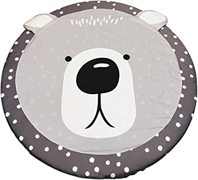 Beautiful Cartoon Animal Shape Non-Slip Circular Floor mat Removable Baby Game Bedroom mat Multiple Sizes