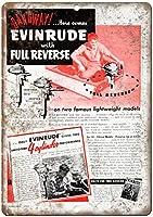Evinrude Outboard Motor Boat ティンサイン ポスター ン サイン プレート ブリキ看板 ホーム バーために