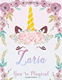 Zaria: Personalized Unicorn Sketchbook For Girls With Pink Name. Unicorn Sketch Book for Princesses. Perfect Magical Unicorn Gifts for Her as Drawing ... Journal / Workbook to Create & Learn to Draw.
