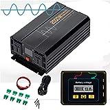 Pure Sine Inverter Peak Power 4000 Watts - Convertisseur de Voiture 24V à 120v / 230v - Convertisseur inverseur avec Prise et Port USB,120v,24V/2000W