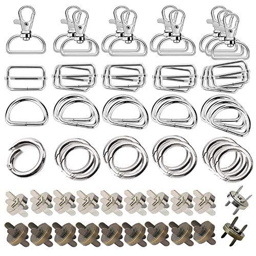 Anyasen Karabiner 25mm taschenverschluss magnetverschluss für taschen d ring o ring 60 Stück Gürtelschnallen für DIY Tasche Geldtasche Rucksack Zubehör