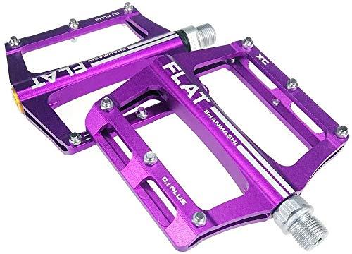 HJWL Pedales de rodamiento para Bicicleta de montaña aleación de Aluminio, Eje 9/16'