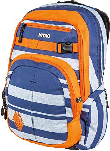 Nitro - Snowboards - Chase Sac à dos - Mixte - Multicolore (Heather Stripe) - 51 x 37 x 23 cm, 35 L