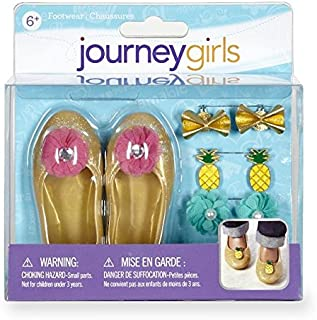 Toys R Us Journey Girls Gold Flats Accessory Set Shoes Footwear