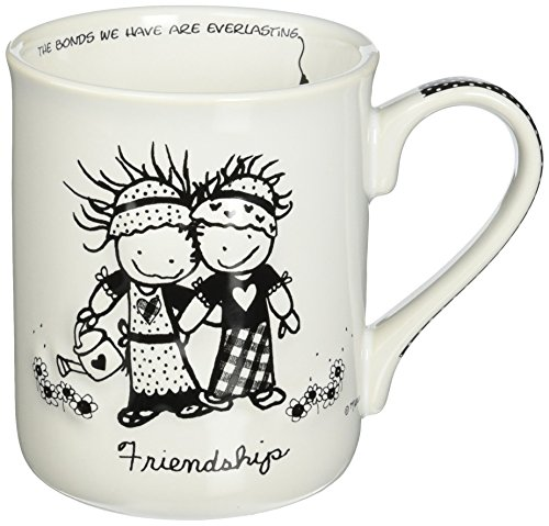 Enesco Friendship Stoneware Gift Mug, 16 oz, Multicolor