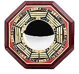 EIERFSKIOT Chino FengShui Bagua Espejo Feng Shui Decoracion Espejo cóncavo para protección contra energía Negativa pasiva y Espejo Convexo para protección contra energía nociva Activa(Color:Conve