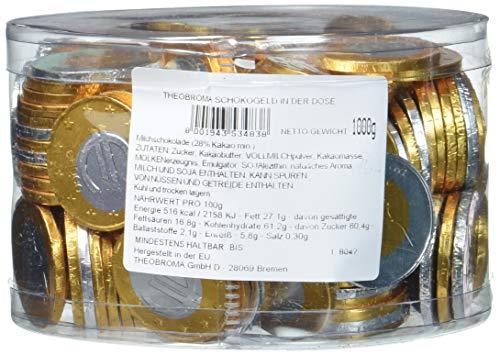 Theobroma Schokogeld 1 und 2 Euro Münzen gemischt, 1 kg