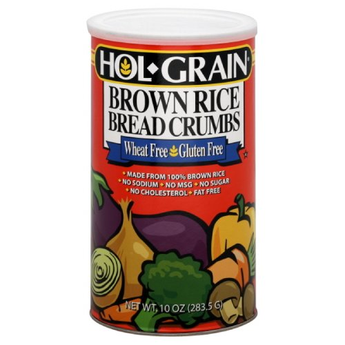 Hol-Grain Brown Rice Bread Crumbs, Wheat Free, Gluten Free, 8-Ounce, (Pack of 3)