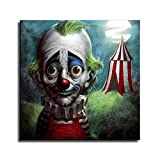 FINDEMO Sad Clown Poster Painting on Canvas Bedroom Wall Art Decoration Pictures Home Decor -482 (unframed,24x24inch)