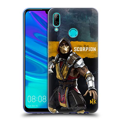 Official Mortal Kombat 11 Scorpion Characters Soft Gel Case Compatible for Huawei P Smart (2019)